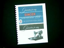Singer Model 221 Featherlight Sewing Machine Instruction Manual Blue 50's Copy