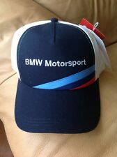 Men's Puma BMW MSP Hat, New Navy Blue Red White Motorsport Sport Cap Snap Back