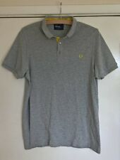 FRED PERRY SLIM FIT GREY POLO T SHIRT SIZE L