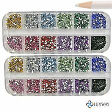 6000 PCS x 1.5 mm RHINESTONES FREE PICKER PENCIL GLUE GEMS  NAIL ART DECORATION