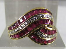 Damen Ring 750er Gold bicolor Rubine Diamanten Brillanten VVS Top Wesselton Rot
