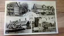 Stratford Upon Avon H&J Busst Coventry Multi View Real Photograph Postcard