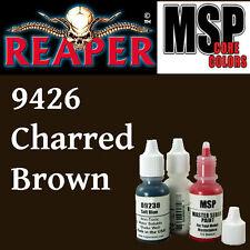CHARRED BROWN 9426 - MSP 15ml 1/2oz paint pot peinture figurine REAPER MINIATURE