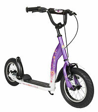 bike*star 30.5cm (12 Zoll) Premium Scooter Kinder-Roller - Farbe Lila & Weiß