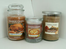 Yankee Candle 22 oz. Turkey & Stuffing, Baking Spices & 8 oz. Sweet Potato Pie