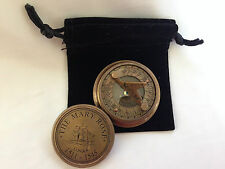 Mary Rose Solid Brass Nautical Marine Sundial Magnetic Compass with Lid