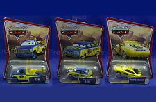 New CHARLIE CHECKER 65 + TOM 57 + TOW Truck 56 -3 World Of Cars PIXAR Piston Cup