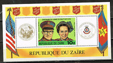 Zaire Flags Salvation Army in the Country Souvenir Sheet 1978 MNH