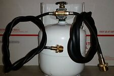 Propane Twin Hose Adapter -run two disposable tank appliances from ONE bulk tank
