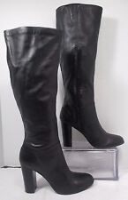 14th & Union PALOMA Leather High Heel Knee High Fashion Boots Black Sz 10M