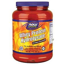 NOW Food Whey Protein Hydrolysate Creamy Chocolate - 2 lbs Fresh, Made in USA