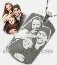 Custom Photo DogTags Free Engraving Dogtags Pendant Necklace Xmas Gift