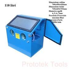 cabina sabbiatrice da tavolo da 110 litri con accessori