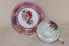 Royal Halsey Very Fine Cup & Saucer Set, Hand Painted Roses, Beautiful, Pink