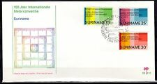 Suriname - 1975 Meter convention centenary - Clean unaddressed FDC!