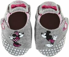 NIB STRIDE RITE Crib Shoes DISNEY Baby Girl Mickey & Minnie Gray 0-3m 0 1