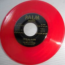 MELLO-CHORDS Eddie Cochran Doowop RedVINYL 45 I'm So All Alone Teardrop Falls m1