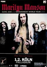 MARILYN MANSON - 2001 - Konzertplakat - Guns God - Tourposter - Concert - K