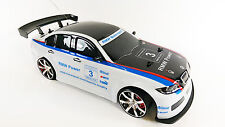 1-10 RADIOCOMANDO RC 4WD Drift Modificato REPLICA Ice Bianco BMW M3 DTM Drift Car