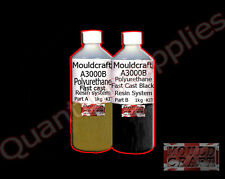 MOULDCRAFT A3000B 2kg BLACK FAST CAST Polyurethane Liquid Plastic casting Resin