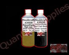 Mouldcraft a3000b 2kg NERO FAST CAST POLIURETANO LIQUIDO IN PLASTICA RESINA COLATA