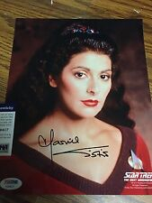 AUTOGRAPHED MARINA SIRTIS 8-10 PHOTO STAR TREK TNG PSA CERTIFIED