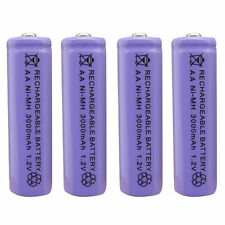 4 pcs AA 3A 450mAh 1.2V Ni-Cd Solar Light Rechargeable battery Purple