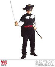 Childrens BANDIT Fancy Dress Costume ZORRO MOSCHETTIERE VESTITO 140cm
