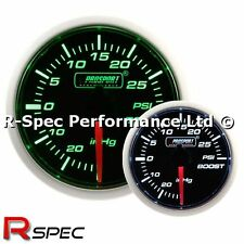 Prosport 52mm Super Green / White Turbo Boost Gauge PSI - Stepper Motor Version
