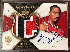 Derrick Rose 08-09 Exquisite Noble Nameplates RC Auto Patch 11/25