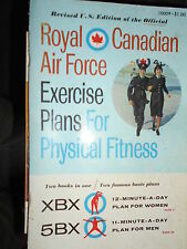 Collectible Vintage Royal Canadian Air Force Exercise Plans XBX 5BX Revised '62