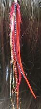 clip On Hair Feathers Extensions saddle extra long Clip in #5 Fluff