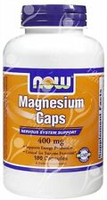 Now Foods magnesio Caps 400mg X180caps-Best Seller!