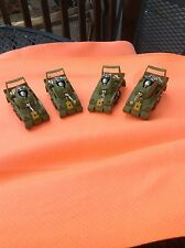 FOUR PIECE VINTAGE AURORA AFX SLOT CAR BODY GROUP / PEACE TANK / GREEN / CHROME!