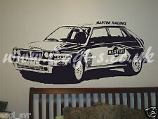 Vinyl wall art Lancia Delta intergrali rally car inspired decal. track day XXL
