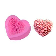 Heart-Shaped Rose Silicone Fondant Mould Cake Decorating Baking Cookie Mold