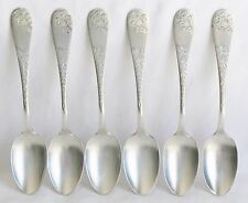 No. 43 Bright Cut Variant Towle Sterling Silver Demitasse Spoon set of 6 c. 1882