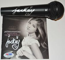 Jackie Evancho autograph CD booklet and microphone bundle PSA/DNA COA