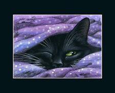 Black Cat ACEO Print Do I Need To... by I Garmashova