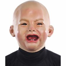 Crying Baby Mask Halloween Funny Babyface Costume Accessory Fancy Dress