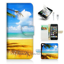 iPhone 5 5S Print Flip Wallet Case Cover! Beach and Sea P0336