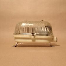 Vintage BULKHEAD BUNKER Light Oval Lamp Industrial Dome Glass Shade Fixture