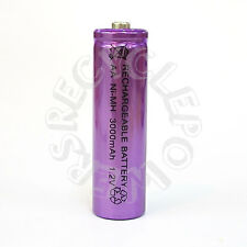 1 x AA LR6 UM3 3000mAh Ni-MH Rechargeable Battery Purple Cell 2A