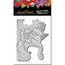 New Stampendous RUBBER STAMP LAUREL BURCH hummingbird blossom FREE US SHIP