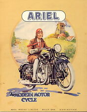 ARIEL MOTORBIKES  A1 PRINT  VINTAGE ADVERT LARGE canvas