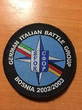 PATCH POLICE NATO SFOR GERMANY ITALY BATTLE GROUP in BOSNIA - ORIGINAL!