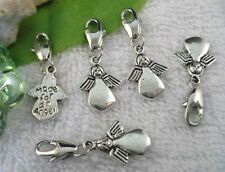 25PCS Tibetan Silver cute angel CLIP ON CHARMS W28484