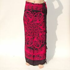 NEW PINK & BLACK CELTIC DESIGN SARONG BEACH POOL WRAP SARI PAREO BNIP / sa059