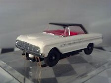 1963 Ford Falcon Coupe White/Black T-JET New Ho Scale Slot Car Custom WHEELS