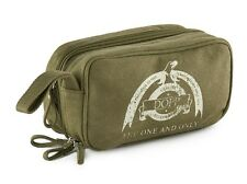 Dopp - NWT - Men's - Green Canvas Cotton Logo Travel Toiletry Bag Kit